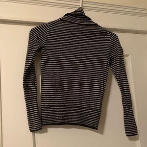 J Crew striped turtleneck sweater